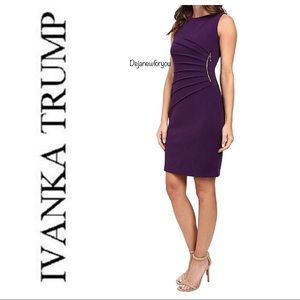 Ivanka Trump Purple Starburst Sheath Dress